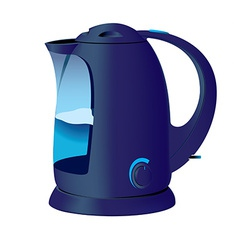 Blue kettle vector