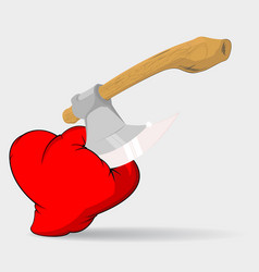 broken heart vector image