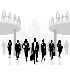 Business people in office vector