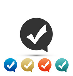 check mark in circle icon choice button sign vector image