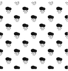 cloud rain pattern seamless vector image