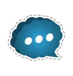 cloud speech bubble dialog cut line vector image