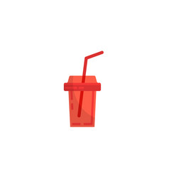 Cola plastic cup image icon vector