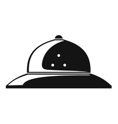 Cork helmet icon simple style vector