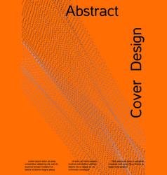 cover design modern bright orange background vector image