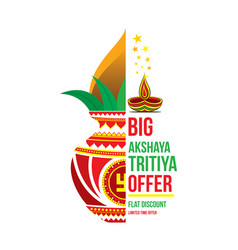 creative akshaya tritya poster design vector image