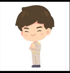 cute man cartoon government employee vector image