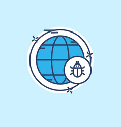 cyber security icon with light blue background vector image