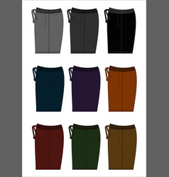 Design template shorts colorful vector