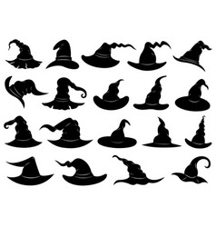 different witch hats vector image