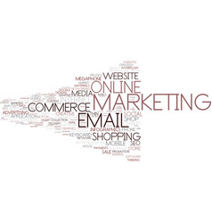 E-marketing word cloud concept vector