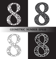 Eight Geometric vector image