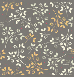 elegant seamless pattern with colorful bouquets vector image