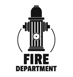 fire department logo simple style vector image