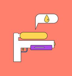 Flat icon design collection water gun vector