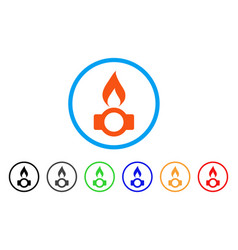 gas flame rounded icon vector image