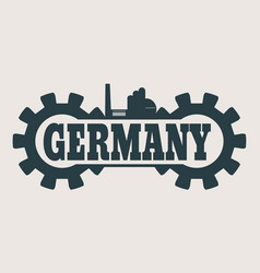 germany word build in gear vector image