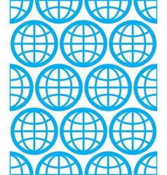 Globes seamless background planets conceptual vector image