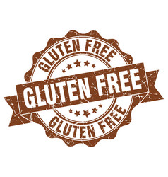 Gluten free stamp sign seal vector