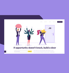 Good job search concept landing page people vector