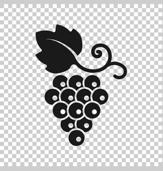 Grape fruits sign icon in transparent style vector
