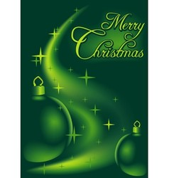 Green Christmas Abstraction vector image