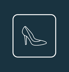 heels outline symbol premium quality isolated vector image