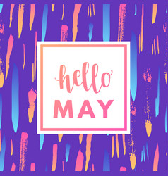 hello may sale banner vector image