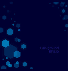 hexagonal background science and technology vector image