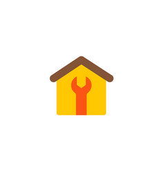 house construction icon flat element vector image