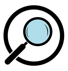 Magnifying glass icon Magnifier in a circle vector image