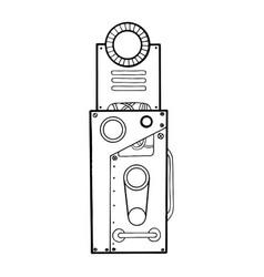 mechanical letter i engraving vector image
