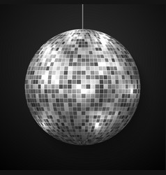mirror disco ball isolated vector image