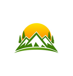 Montain logo design vector