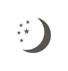 moon icon flat design on a white background vector image