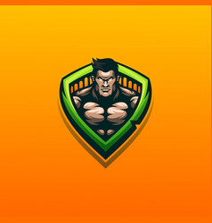 Muscle logo design ready to use vector