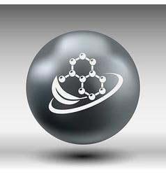 Natural components icon molecule science nature vector image