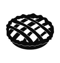 Pie icon black vector