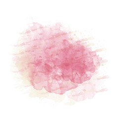 pink and yellow watercolor painted stain isolated vector image