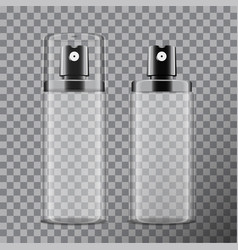 realistic cosmetic spray bottle dispenser for vector image