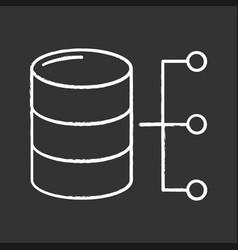 relational database chalk icon vector image