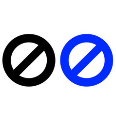 Restriction icon vector