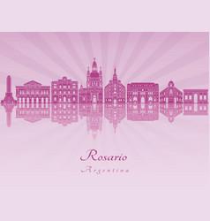 Rosario skyline in purple radiant orchid vector