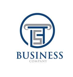 S t law firm logo designs modern vector
