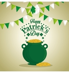 saint patrick day treasure pot vector image
