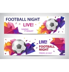 Set of sport football banners vector
