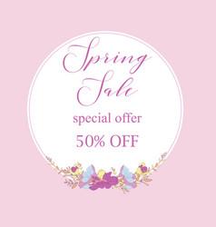 Spring sale banner sale poster sale flyer sale vector