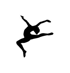 Stag split leap gymnast woman vector