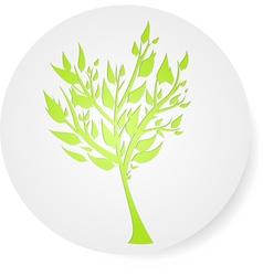 tree round symbol vector image