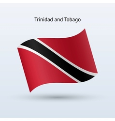 Trinidad and Tobago flag waving form vector